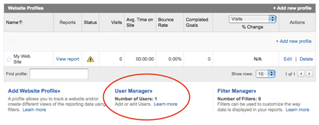 Adding Viewers to Google Analytics