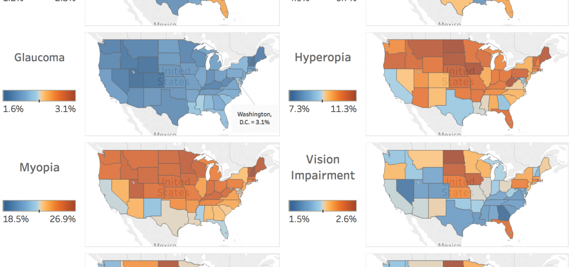 How Well Can We See Prevalence Of Vision Problems In The United - Can i see a map of the united states